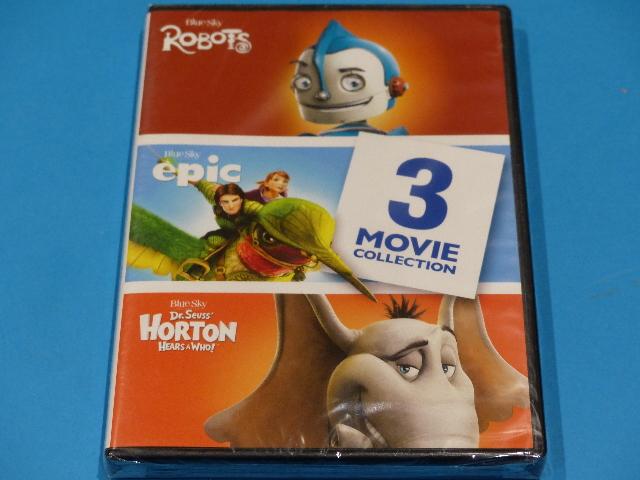 3 MOVIE COLLECTIN ROBOTS/ EPIC/ HORTON HEARS A WHO DVD NEW