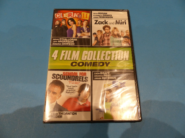 4 FILM COLLECTION COMEDY QUAD - DVD NEW SEALED