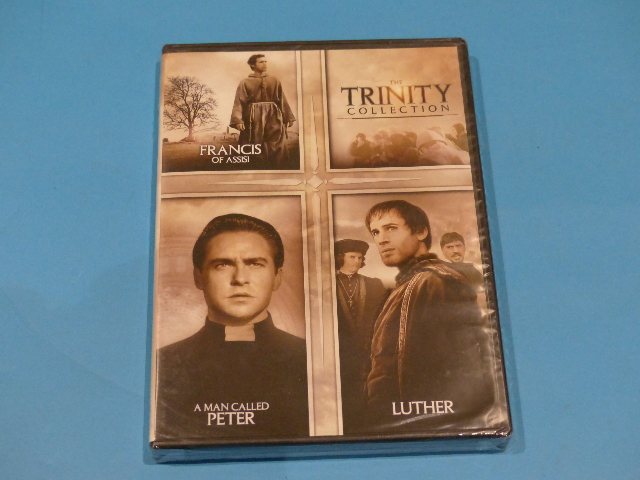 THE TRINITY COLLECTION: FRANCIS OF ASSISI, A MAN CALLED PETER, LUTHER DVD NEW