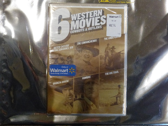 6 WESTERN MOVIES COWBOYS AND OUTLAWS NEW DVD