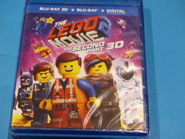 LEGO MOVIE 2 THE SECOND PART 3D BLU-RAY 3D + BLU-RAY + DIGITAL NEW