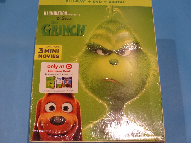 THE GRINCH BLU-RAY + DVD  NEW