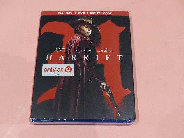 HARRIET BLU-RAY + DVD + DIGITAL W/SLIPCOVER NEW SEALED