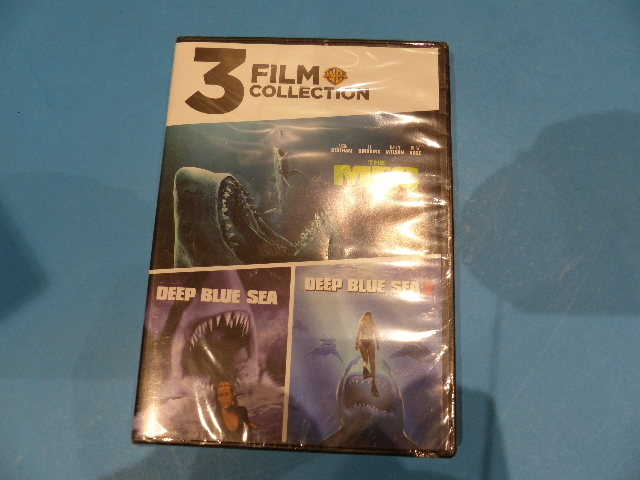 3 FILM COLLECTION OF SHARK MOVIES DVD NEW