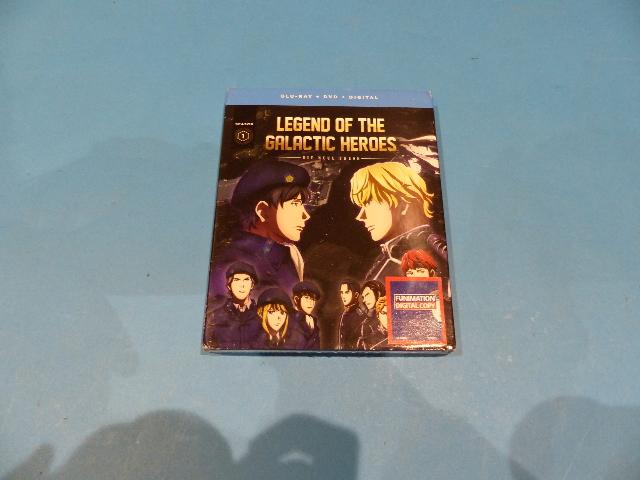 LEGEND OF THE GALACTIC HEROES SEASON 1 - BLU-RAY + DVD + DIGITAL NEW SEALED