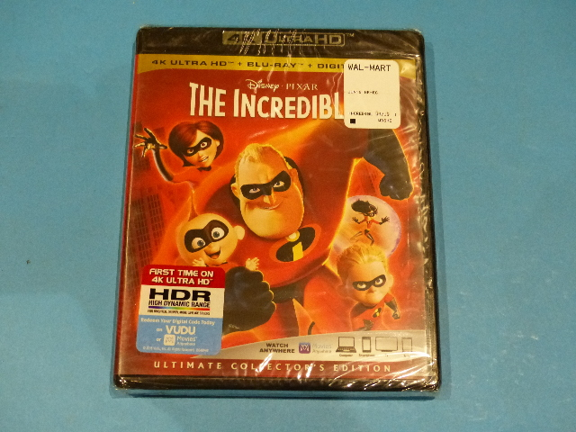 THE INCREDIBLES 4K ULTRA HD + BLU-RAY + DIGITAL NEW SEALED