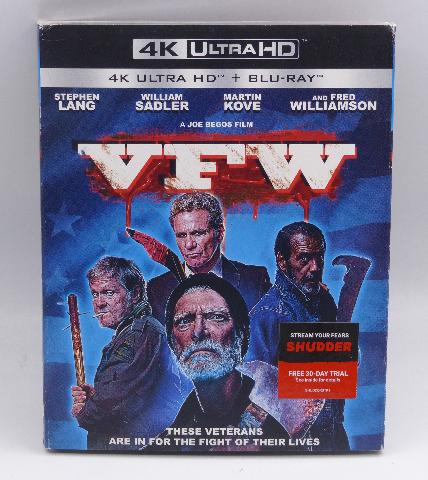 VFW 4K ULTRA HD + BLU-RAY NEW SEALED