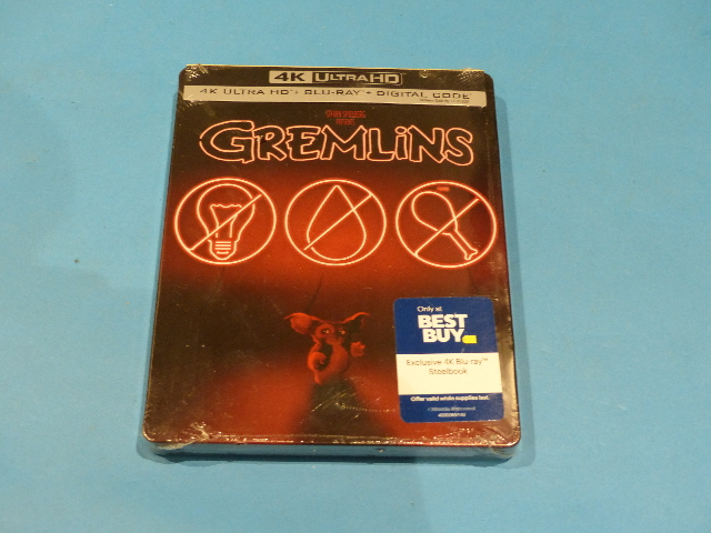 GREMLINS STEELBOOK DIGITAL + 4K ULTRA HD + BLU-RAY NEW SEALED