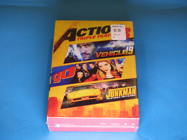 ACTION TRIPLE FEATURE 3 DVD NEW