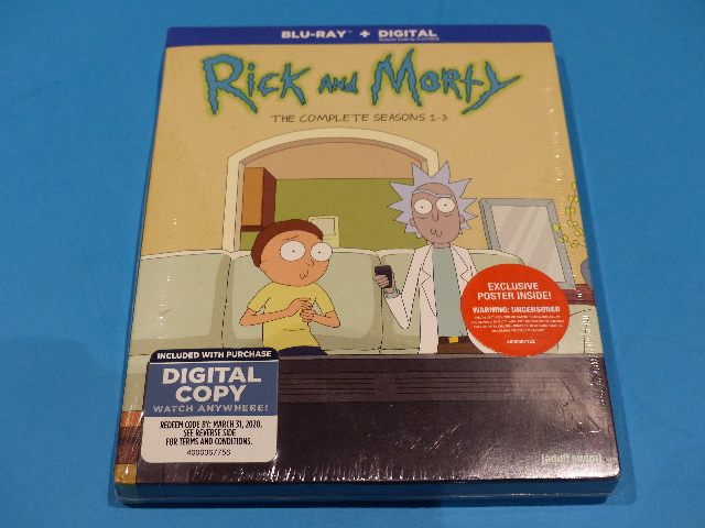 RICK AND MORTY THE COMPLETE SEASONS 1-3 1 2 3 BLU-RAY + DIGITAL  NEW