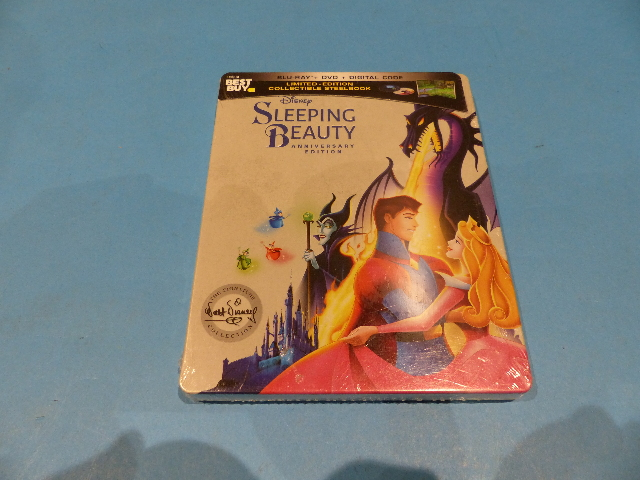 SLEEPING BEAUTY SIGNATURE COLLECTION STEELBOOK ANNIVERSARY ED DIG+ BLU-RAY+ DVD