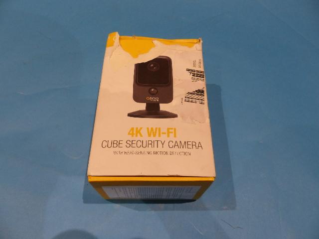QSEE QCW4K1MCB WIFI SECURITY CAMERA 4K WIFI CUBE W/HEAT SENSING MOTION