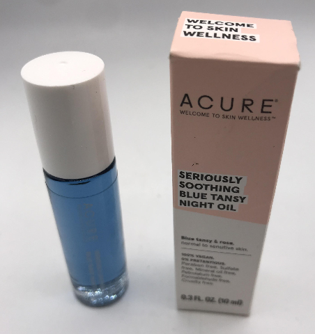 ACURE BLUE TANSY AND ROSE NIGHT OIL .3 FL. OZ. 10ML.