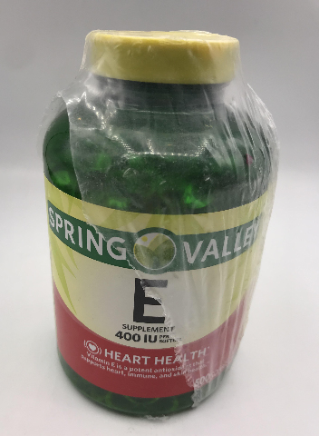 SPRING VALLEY E 400 IU SUPPLEMENTS 500 SOFTGELS EXP 06/22