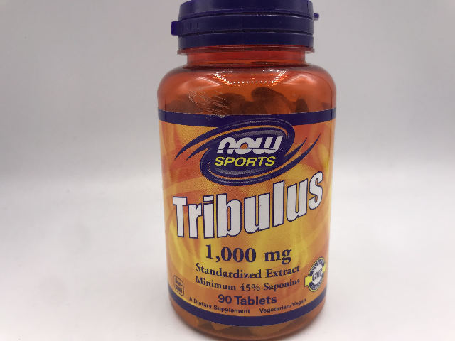 NOW SPORTS TRIBULUS 1,000 MG STANDARDIZED EXTRACT 90 TABLETS EXP 09/2023