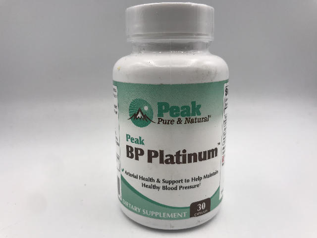 PEAK PURE & NATURAL BP PLATINUM 30 CAPSULES EXP 10/2021