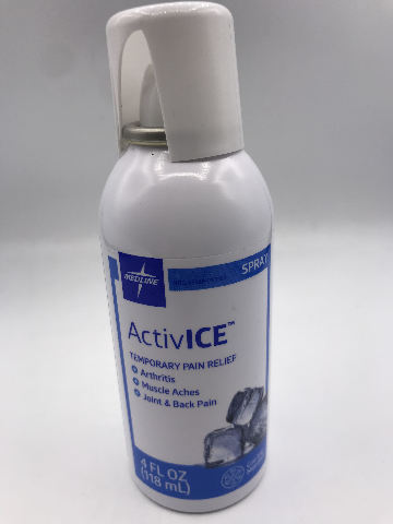 MEDLINE ACTIVE ICE COOLING MENTHOL TEMPORARY PAIN RELIEF SPRAY  4 FL.OZ. 188 ML.