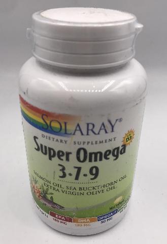 SOLARAY SUPER OMEGA 3-7-9 120 SOFTGELS