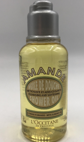 LOT OF 2 L'OCCITANE AMANDE HUILE DE DOUCHE ALMOND SHOWER OIL 35 ML. 1.1 FL. OZ.