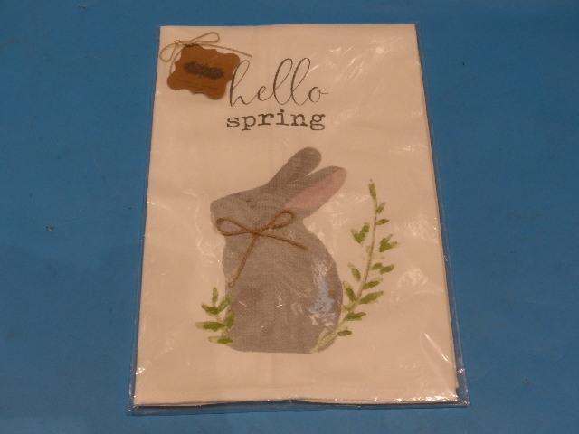 MUD PIE QXT-24419 41500085H HELLO SPRING EASTER TOWEL
