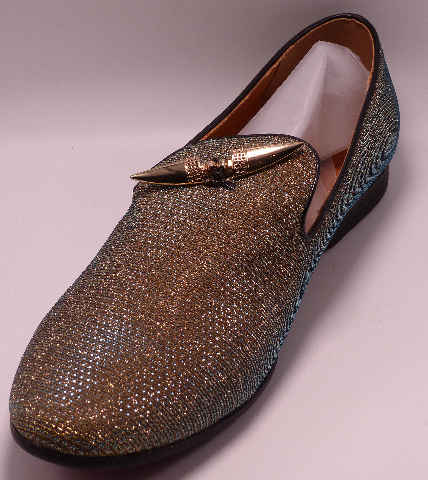 GIORGIO BRUTINI CONQUEST X18001 GOLD US MEN 11.5D DRESS SLIP ON SHOES