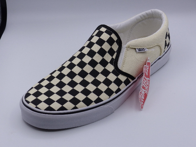 VANS ASHER CHECKERS BLACK/ NATURAL US 12 MENS EU 46