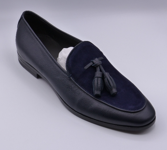 CANALI TASSEL LOAFER 611531 BLUE MENS EU 42 US 8 DRESS LOAFERS