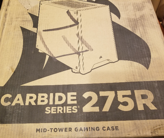 CORSAIR CARBIDE SERIES 275R MID-TOWER GAMING CASE BLACK FINISH ACRYLIC PANEL
