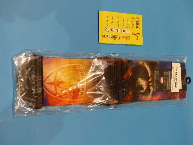 BIOWORLD SOCKS CREW MARVEL GUARDIANS OF THE GALAXY HELICASE RING 10-13 ROCKET