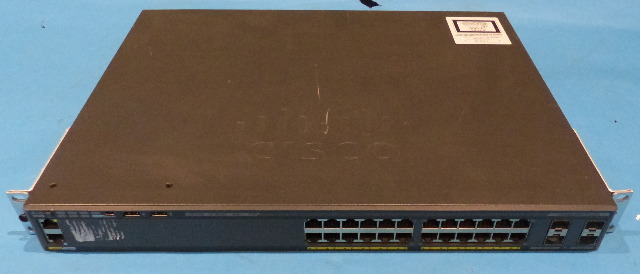 CISCO WS-C2900X-24PS-L V04 24 PORT ETHERNET POE SWITCH
