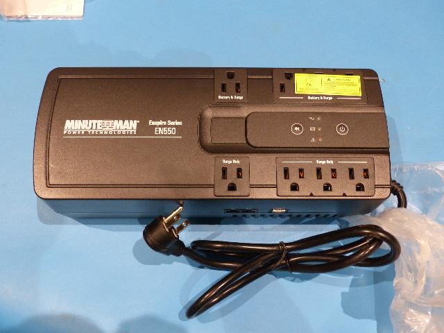 MINUTEMAN UPS MM-EN550 SURGE PROTECTOR 550VA/300W 120V 8 OUTLETS