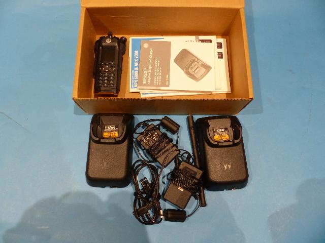 MOTOROLA APX6000 H98KGH9PW7AN TWO WAY RADIO VHF P25