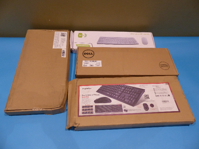 LOT OF 5 EAGLE TEC SEAL SHIELD DELL KENSINGTON ASSORTED WIRELESS AND WIRED KEYBOARDS