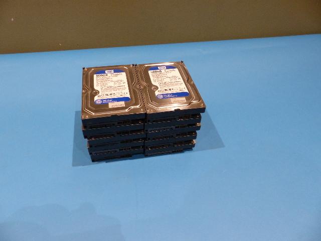 LOT OF 10 WESTERN DIGITAL WD5000AAKS-60WWPA0 500GB SATA 3.5 FT.HARD DRIVES