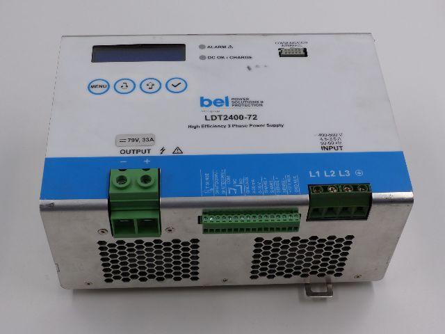 BEL LDT2400-72 HIGH EFFICIENCY 3 PHASE POWER SUPPLY