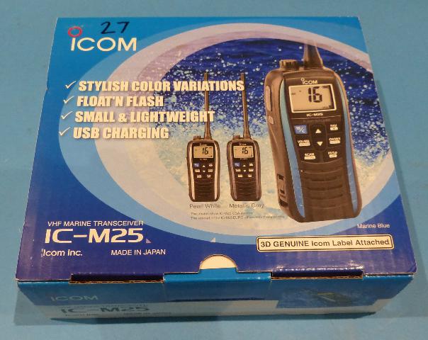 ICOM VHF MARINE TRANSCEIVER PEARL WHITE 41USA04 IC-M25