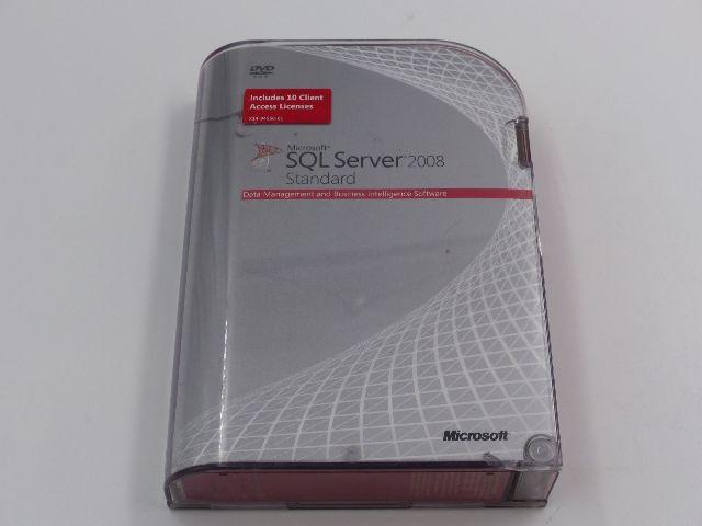 MICROSOFT SKU-228-08394 SQL SERVER 2008 STANDARD SOFTWARE