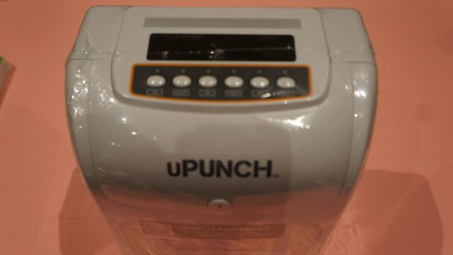 UPUNCH HN3000 TIME CLOCK TERMINAL + PUNCH CARDS