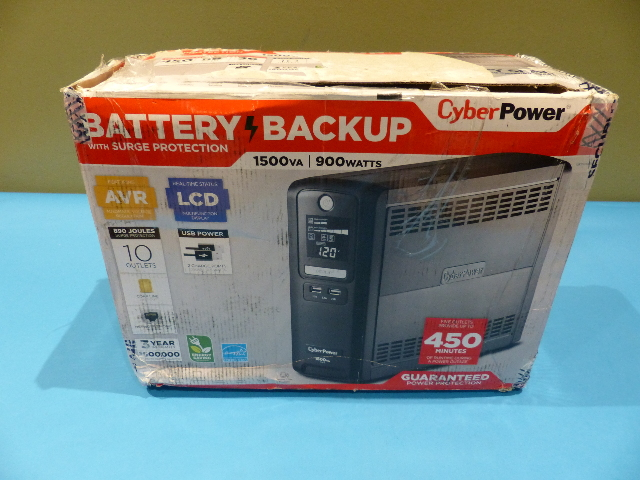 CYBERPOWER 1500VA CP1500AVR UPS UNINTERRUPTED POWER SUPPLY
