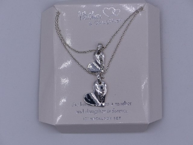 MOTHER & DAUGHTER THE LOVE BETWEEN A MOTHER AND DAUGHTER IS FOREVER NECKLACE SET