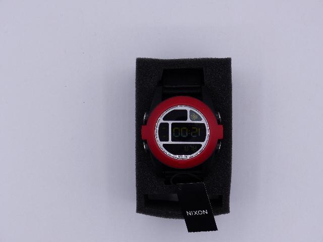 NIXON A489760 MENS BAJA NYLON SILVER / BLACK WATCH A489760