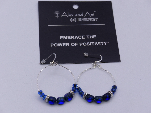 ALEX AND ANI EDEN EARRINGS COBALT W/CARD A13E05RS