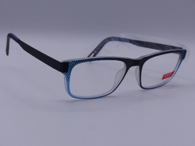 YOU'S EYEGLASSES FRAMES GRAY AND BLUE 1020/61 AMSTERDAM 52-19 140 LIGHT THIN