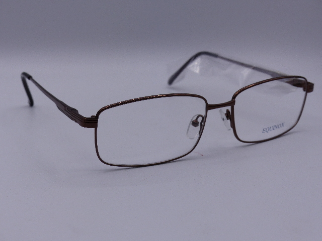 EQUINOX EYEWEAR GLASSES FRAMES LIGHT BROWN FRAME 58X16-145 SW223