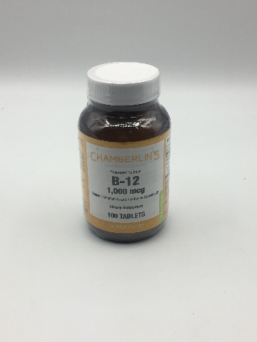 CHAMBERLIN'S B-12 1,000 MCG DIETARY SUPPLEMENT 100 TABLETS