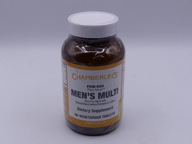 CHAMBERLIN'S MEN'S MULTI DIETARY SUPPLEMENT 90 VEGETARIAN TABLETS