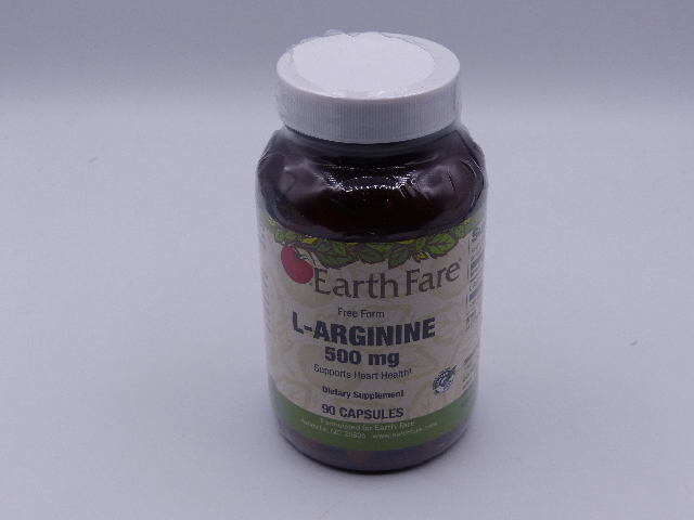 EARTH FARE FREE FORM L-ARGININE 500 MG DIETARY SUPPLEMENT 90 CAPSULES