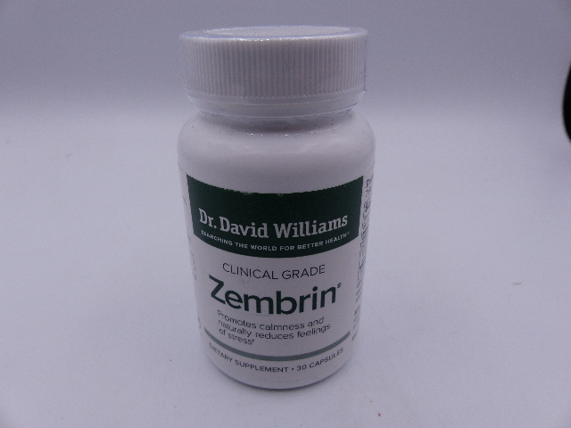 DR. DAVID WILLIAMS CLINICAL GRADE ZEMBRIN DIETARY SUPPLEMENT 30 CAPSULES