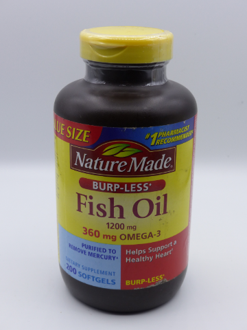 Best Fish Oil 2020 NATURE MADE BURPLESS FISH OIL 1200 MG WITH OMEGA 3 360 MG BEST 12