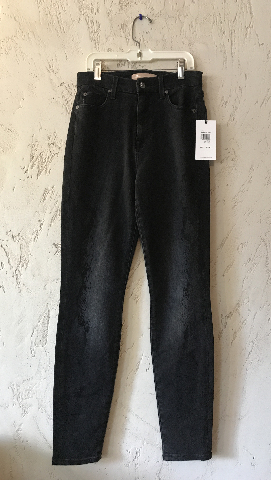 7 FOR ALL MANKIND AUBREY HIGH WAIST ANKLE SKINNY JEAN LUXE VINTAGE COAL SNAKE 26